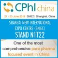 VISIT US AT CPhI CHINA | SNIEC, SHANGAI | June 20-22 | STAND N1T22