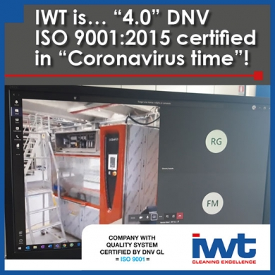 IWT is '4.0' DNV GL ISO 9001:2015 certified in 'Coronavirus time'!